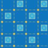 Blue vector seamless texture with squares. Geometrical blue seamless texture with squares vector illustration