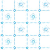 Blue vector seamless tracery on white Stock Images