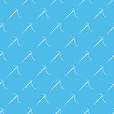 Blue vector sewing needle seamless pattern Stock Photography