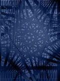 Blue Vector Shape Background. Blue abstract shape overlay background, vertical Stock Photography