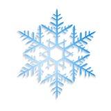 Blue vector snowflake Stock Photos