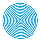 Blue vector spiral. Royalty Free Stock Image