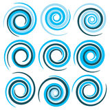 Blue vector spirals Royalty Free Stock Image