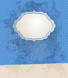 Blue vector striped vintage background Royalty Free Stock Image