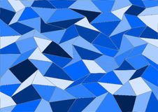 Blue Vector Tile Mosaic Background Royalty Free Stock Images