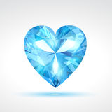Blue vector valentine heart Stock Image