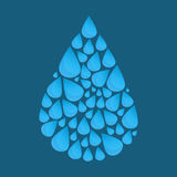 Blue vector water drop Stock Photography