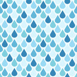 Blue vector water drops seamless pattern Royalty Free Stock Images
