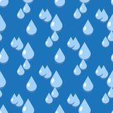 Blue vector water drops seamless pattern. Liquid dew clear illustration Royalty Free Stock Images