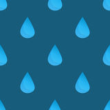 Blue vector water drops seamless pattern Stock Images