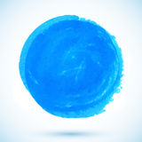 Blue vector watercolor circle stain Royalty Free Stock Photos