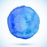 Blue vector  watercolor paint circle Royalty Free Stock Photo
