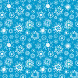 Blue vector winter background with snowflakes. Seamless pattern. Royalty Free Stock Photos