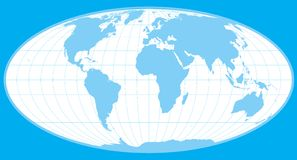 Blue vector world globe Stock Photography
