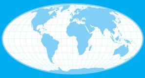 Blue vector world globe. Clip-art vector illustration