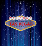Blue vegas welcome Royalty Free Stock Photo