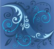 Blue vegetative pattern Royalty Free Stock Images