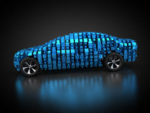 Blue vehicle with abstract carbody. 3D rendering: blue vehicle with abstract carbody Stock Image