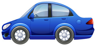 A blue vehicle Stock Images