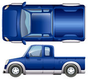 A blue vehicle Royalty Free Stock Image