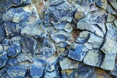 Blue vein magma tic quartz rock close up. Stock Photo
