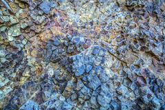 Blue vein magma tic quartz rock close up. Royalty Free Stock Photography