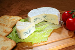 Blue veined camembert Stock Photos