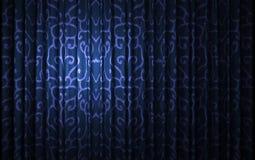 Blue velvet curtain opening scene Stock Image
