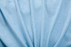 Blue Velvet Drapery. Folds of blue velvet drapery; close up Stock Images