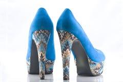 Blue velvet high Stock Images