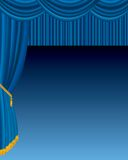 Blue velvet stage. Vector stage with blue velvet Stock Photos