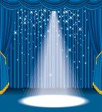 Blue velvet star spot Royalty Free Stock Photo