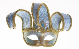 Blue Venetian carnival mask Stock Images