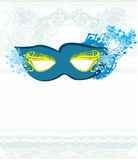 Blue venetian carnival mask Stock Photo