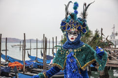 Blue Venetian Disguise Royalty Free Stock Image