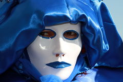 Blue venetian Mask stock images