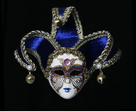 Blue Venetian Mask Royalty Free Stock Images