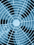 Blue ventilator grid, industry details, Stock Photography