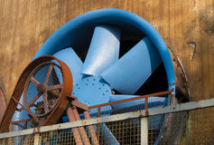 Blue ventilator Royalty Free Stock Image