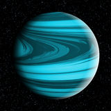Blue Venus. Imaginary planet in the deep universe Stock Image