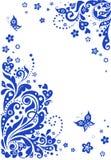 Blue vertical banner Stock Image