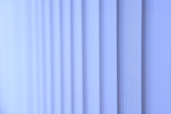 Blue vertical blinds. Abstract photo royalty free stock image