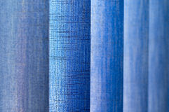 Blue vertical jalousie texture Royalty Free Stock Images