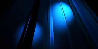 Blue vertical lines with spot light Stock Images