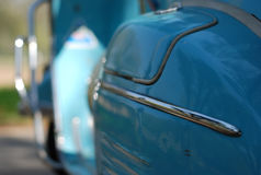 Blue vespa stand alone Royalty Free Stock Image