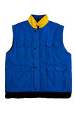Blue vest. A blue vest isolate on white background stock photography