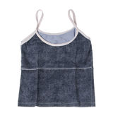 Blue vest. On white background Stock Photos