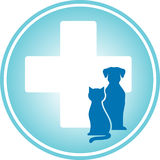 Blue veterinary symbol Royalty Free Stock Image