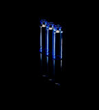 Blue vials Stock Photos