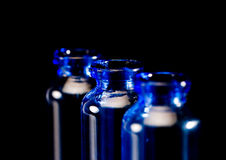 Blue vials Royalty Free Stock Image